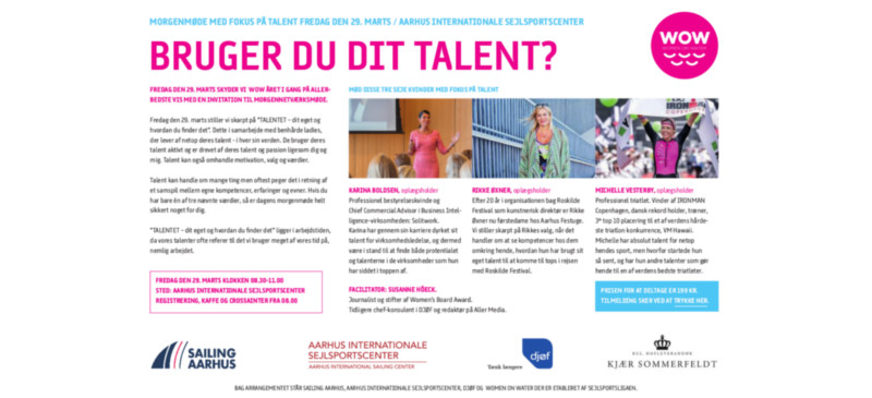 WOW starter i Aarhus Internationale Sejlsportscenter med fokus på talent..